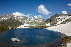 Mountain landscape with blue lake Stock Image