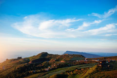 Mountain landscape with the blue sky. Stock Photography