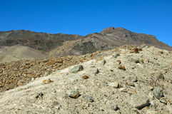 Mountain landscape with boulders Stock Images