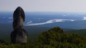 Mountain landscape boundless Yakutia - Olonkholand Royalty Free Stock Images