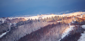 Mountain landscape in Brasov county Stock Photo