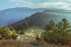 Mountain landscape in Brasov county Royalty Free Stock Photography