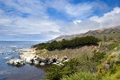 Mountain Landscape in California's Big Sur Royalty Free Stock Photo