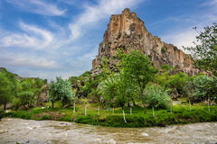 Mountain landscape. Canyon Ihlara, Cappadocia, Turkey. Green tou Stock Photography