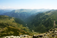 Mountain landscape in Carpathians Stock Photo