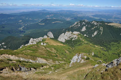 Mountain landscape in the Carpathians Royalty Free Stock Image