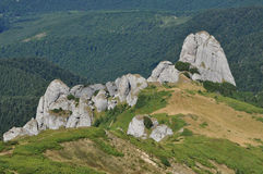 Mountain landscape in the Carpathians Royalty Free Stock Photo