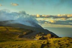 Mountain landscape in Carpathians - Transalpina road Stock Photos