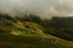 Mountain landscape in Carpathians - Transalpina road Stock Images