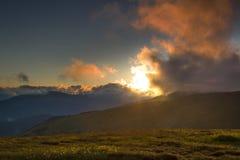 Mountain landscape in Carpathians - Transalpina road Royalty Free Stock Photo
