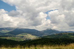 Mountain. Landscape in Carpathians of Ukraine Royalty Free Stock Photography
