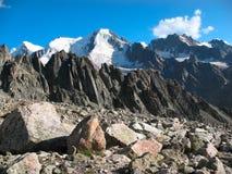 Mountain landscape.  Caucasus, Elbrus Area. Mountain landscape near the gorge Adyr-Su.  Caucasus, Elbrus Region Royalty Free Stock Photo