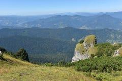 Mountain landscape. Ceahlau mountains, Eastern Carpathians, Roma Stock Photo