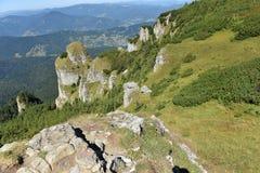 Mountain landscape. Ceahlau mountains, Eastern Carpathians, Roma Royalty Free Stock Photography