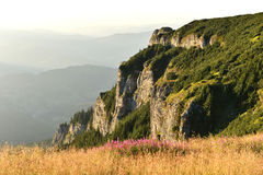 Mountain landscape. Ceahlau mountains, Eastern Carpathians, Roma Stock Image