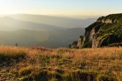 Mountain landscape. Ceahlau mountains, Eastern Carpathians, Roma Royalty Free Stock Photo