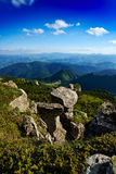 Mountain landscape in Ceahlau,  Romania Royalty Free Stock Images