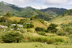 Mountain landscape in central Honduras near village of El Jute Royalty Free Stock Image