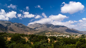 Mountain landscape at central part of Crete island Royalty Free Stock Images
