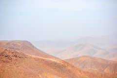 Mountain landscape at the central part of Fuerteventura island Stock Images
