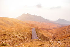 Mountain landscape at the central part of Fuerteventura island Stock Photos