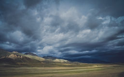 Mountain landscape of Central Tibet Stock Image