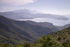 Mountain landscape Cima del Monte near Rio nell Elba, Elba, Tuscany, Italy Stock Photos