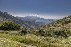 Mountain landscape Cima del Monte near Rio nell Elba, Elba, Tuscany, Italy Royalty Free Stock Photography