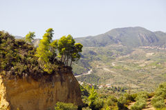 Mountain landscape with cliffand blue sky Royalty Free Stock Photos