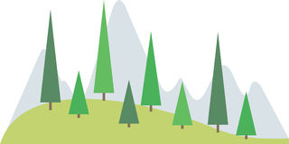 Mountain landscape +clipping path. Mountain landscape illustration. Clipping path is included Stock Illustration