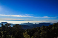 Mountain landscape. With cloud in morning Royalty Free Stock Photo
