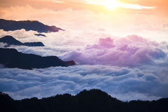 Mountain landscape with cloud Stock Image