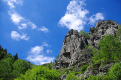 Mountain landscape. With clouds and rocks Royalty Free Stock Photography