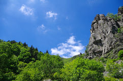 Mountain landscape. With clouds and rocks Stock Photos