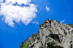 Mountain landscape. With clouds and rocks Stock Photo