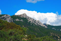 Mountain landscape with clouds . Stock Photo