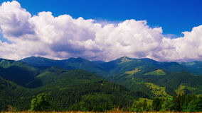 Mountain Landscape with Clouds stock footage