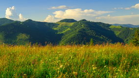 Mountain Landscape with Clouds stock video footage