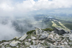 Mountain landscape on a cloudy day with rain clouds. Tatra Mountains. Royalty Free Stock Images