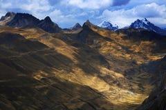Mountain landscape in Cordiliera Huayhuash Stock Photo