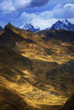 Mountain landscape in Cordiliera Huayhuash Royalty Free Stock Photo