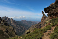 Mountain landscape, Corse, France. stock photo
