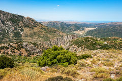 Mountain landscape. Crete, Greece Royalty Free Stock Photos