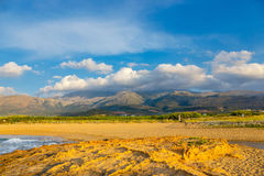 Mountain landscape of Crete near Malia, Greece Stock Photography
