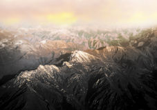 Mountain landscape at dawn Royalty Free Stock Image