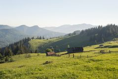 Mountain landscape in the day time. Beautiful natural landscape Royalty Free Stock Photos