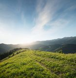 Mountain landscape in the day time. Beautiful natural landscape at the summer time Royalty Free Stock Photos