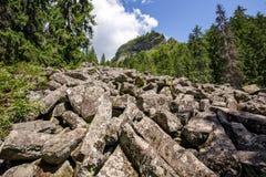 Mountain landscape with Detunatele Royalty Free Stock Images