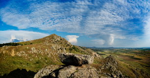 Mountain landscape from Dobrogea, Romania Royalty Free Stock Images