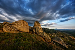 Mountain landscape in Dobrogea, Romania Stock Image